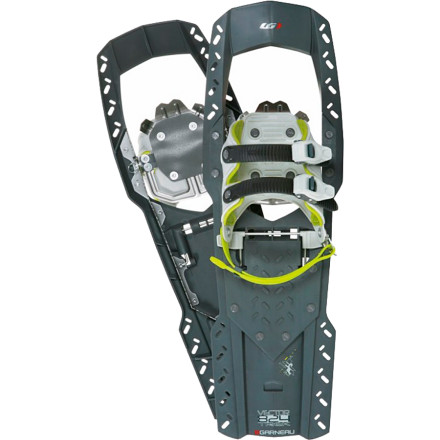 Camp and Hike Use the Louis Garneau Vector UX Trek 824 Snowshoe to help you stay on top of the deep snow and get in a groove on your next winter hike. As you wander through a snowy forest, the U-shaped polymer deck keeps you on top of the new layer of powder. And the easy-on ratchet buckles lock your boot into the padded harness, which enables smooth strides for long day hikes through the backcountry. - $115.47