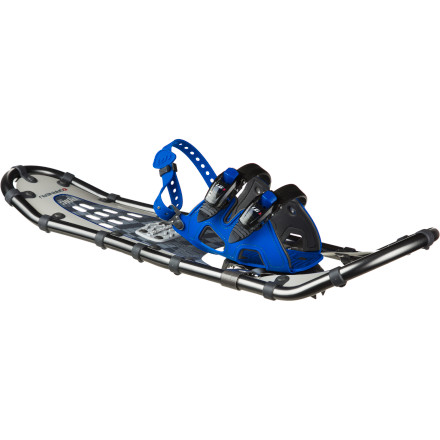 Camp and Hike Whether you're breaking trail in a wooded winter wonderland back east or tackling steeper terrain in the Wasatch, the Louis Garneau Streamshape FX Epic Snowshoe will provide the flotation and traction you need for a successful outing. The 3D molded foot harness is lined with EVA padding for total comfort, and the snowboard-style ratchet buckles make fit adjustments quick and easy. - $122.47