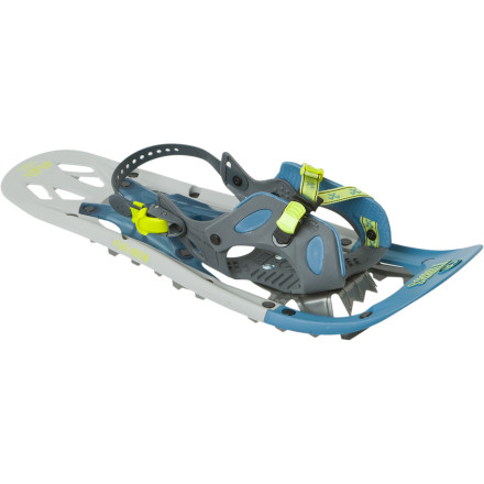 Camp and Hike For a natural, comfortable stride through the hardpacked snow and a stress-free experience for your joints, slide your foot into the Tubbs Women's Flex NRG Snowshoe. - $125.97