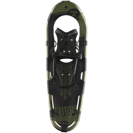Camp and Hike Get a head start on your snowshowing education with the easy-to-use Tubbs Xplore Snowshoe. Geared to ease you into the sport and propel you into snow-stomping adventure, it has a lightweight aluminum frame with an impact-reducing upturned tail, rotating, snow-shedding toe cord, and a super-quick and easy binding system. Control Wings keep your heel aligned for optimal efficiency, and grippy crampons give you sure footing when the fresh snow gets packed out. - $90.97