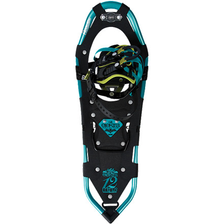Camp and Hike The Atlas Women's Elektra 12 Series Snowshoe comes with the most-dialed technology and toughest/lightest materials that Atlas has in its deep bag of goodies. Designed just for women, it features outside rolling bends, a narrower waist and a tapered tail that work best with your natural stance and gait, while carefully placed straps and padding eliminate pressure points that inhibit circulation. - $195.97