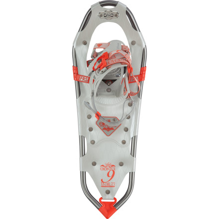 Camp and Hike When the going gets deep, the deep get trampled by the Atlas Women's Electra 9 Series FRS Snowshoe. For the backcountry snow trekker who doesn't want to be confined to the shallows, here's a snowshoe that will flex, bend, and roll with the least resistance and natural feel. And when the going gets icy, there's the tenacious bite of a steel crampon. Plus, it's shaped just for you, you narrow-heeled, tapered-tail snow-chaser. - $118.97