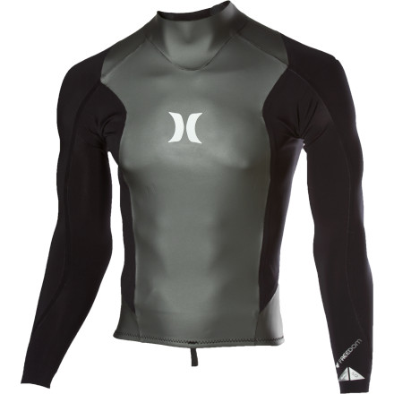 Surf With 2mm-thick neoprene in the chest and back and .5mm thickness in the arms, the Hurley Freedom 201 Wetsuit Jacket provides plenty of core warmth without restricting your paddle. Fully sealed seams and a chafe-free design keep you comfortable enough to keep ripping when the rest of your crew packs it in for the day. - $62.62
