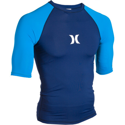 Surf Rather than dragging around in a heavy, sopping wet T-shirt while you surf all morning, reach for the Hurley Men's One and Only Rash Guard. Four-way stretch material moves with you so this rash guard won't leave you feeling like you're wearing a straitjacket as you bob in the swell. - $34.95