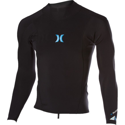 Surf Too warm for the shorty but too cold for just a rashguard' Pull on the Hurley Fusion 101 Wetsuit Jacket. Seamless paddle zones prevent irritation, while the built-in boardshort attachment helps resist riding up. - $58.46