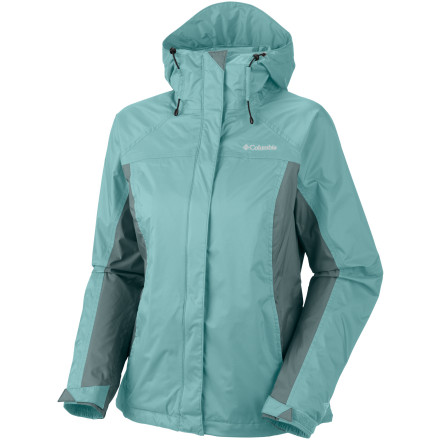 Fitness Sudden downpours won't force a change in your plans when you've got the Columbia Women's Arcadia Rain Jacket. Omni-Tech waterproof breathable fabric collaborates with construction features like the adjustable storm hood, fully taped seams, a drawcord hem, and hook-and-loop cuffs to keep you on the move no matter how hard the rain it's raining. An eco-friendly mesh lining prevents this shell from sticking to your skin, and external and internal zip pockets secure your essentials. - $51.96