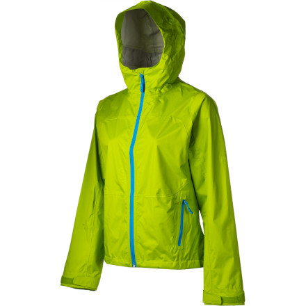 Ski The Mammut Womens Bumblebee Jackets cute name belies its down-to-business construction. This take-anywhere hard shell keeps you hiking through the rain showers and shredding through the blowing snow. An adjustable hood makes a pleasant cocoon in which to hide from the storm, and articulated sleeves provide excellent range of motion whether youre fiddling with a hydration pack or swinging your ice axe. The Bumblebee Jacket has a slightly roomy fit to accommodate other layers, so you can really bundle up or trim down underneath. - $74.50