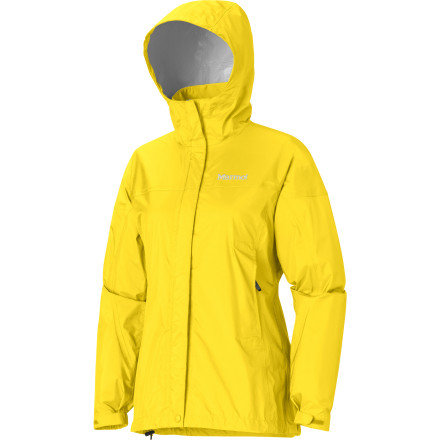 Fitness From backpacking into the wilderness to attending an outdoor event, you never know what Mother Nature has in store. Enter the Marmot Women's PreCip Jacket: its fully taped seams, adjustable, roll-away hood, underarm venting, ripstop nylon material, DriClime chin guard, and Angel Wing Movement make this technical rain shell absolutely crucial to own. - $99.95