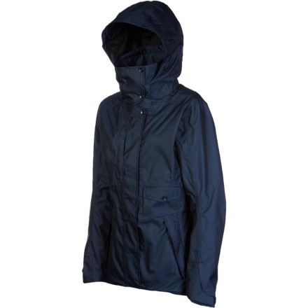 Fitness Take shelter in style thanks to the waterproof and breathable Nau Women's Refugio Jacket. A detachable adjustable hood, venting, and pockets galore round out this sophisticated piece of rainwear, andsince it's made from 100% recycled polyesteryou get comfort and coverage that your body and soul can feel good about. - $145.72
