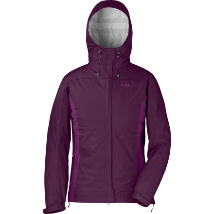 Fitness The view from atop the mountain rim is guaranteed to be awe-inspiring, but to get there requires a walk through some wet, soggy mid-mountain weather. Gear up for your next day hike or overnight trip with the Outdoor Research Women's Panorama Jacket so that unexpected showers won't ruin the fun of frolicking in the wild. - $62.48