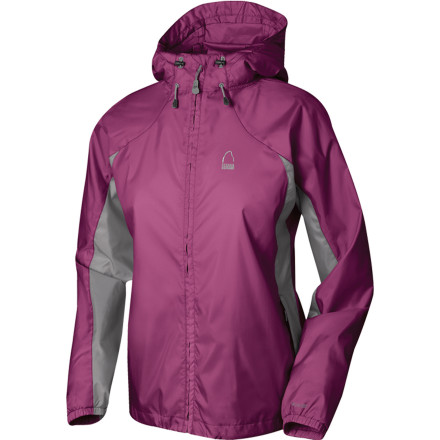 Fitness The Sierra Designs Womens Microlight Jacket boasts a no-frills design. No bulky seam taping, no heavy insulationnothing you dont absolutely need for windy, drizzly days. Its polyester taffeta fabric is light as a whisper and super breathable, and its PU coating protects you from mildly crappy weather. Cram this featherweight jacket in its included stuff sack and drop it in your daypack just in case the sky starts leaking or the wind picks up. - $30.52