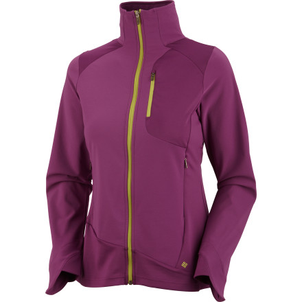 Fitness The Columbia Women's Trail Twist II Jacket is an versatile, function-driven softshell that will block the weather while remaining highly breathable and easy to move in. Zip up in this jacket before you head out into mountain trails where the weather can change in an instant, when you need to be ready for anything from warm weather to a sudden storm. - $34.98