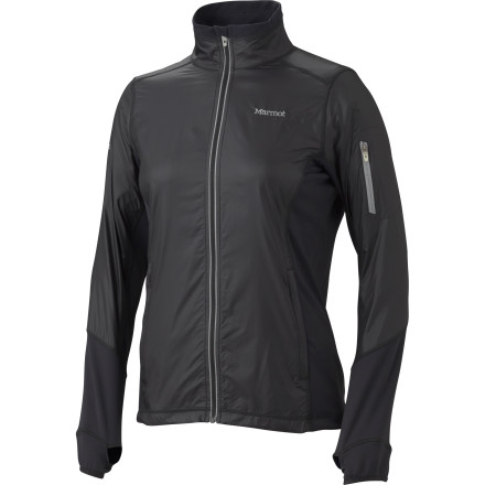 Fitness The Marmot Women's Fusion Jacket's hybrid construction features a blend of technical fabrics strategically arranged to enhance weather protection, mobility, and overall breathability. Feel free to tackle new terrain and damp weather without feeling like a steamed oyster in your restrictive hardshell jacket. - $82.47