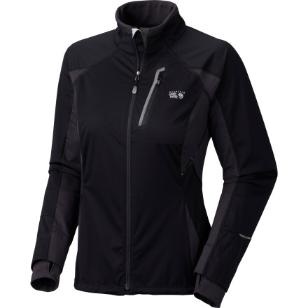 Fitness Sure it's chilly out, but why train indoors when you can zip up the Mountain Hardwear Women's Effusion Power Jacket and head out for a trail run' Its Micro Climate Zoning construction features both windproof, water-resistant panels and stretchy, breathable panels to provide protection and mobility where you need them most. - $125.97