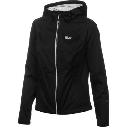 Fitness Zip up the Mountain Hardwear Women's Effusion Hooded Jacket and clip into your Nordic skis or snowshoes for a fast-and-light glide over the snow. Or pull this jacket on over your trail-running top and drive up into the mountains. This lightweight jacket features a semi-fitted cut so you have plenty of room to layer underneath, and its waterproof breathable fabric blocks wetness and makes sure you don't overheat on the trail. - $131.97