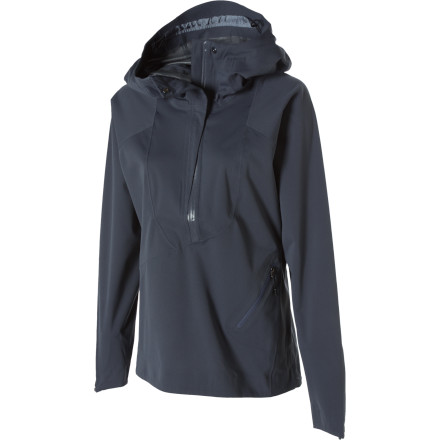 Fitness So, the NAU Women's Wafer Hooded Pullover Jacket might look like it belongs on an Italian runway, but don't let the high-fashion cut fool you. This jacket is as rich in techy features as it is in style. This is the pullover you want on your back when it's raining in Milan and you're waiting in line for a show. - $99.98