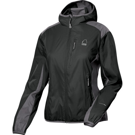 Fitness You're not worried when a brisk wind springs up on your next hike, because you have the Sierra Designs Women's Knuckle Hoodie Winshirt tucked into your hydration pack. Lightweight and compact, this stretchy hooded jacket offers basic protection on the trail and oodles of style for your treks through town. - $35.69