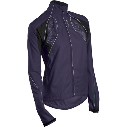 Fitness When rides go from sunny and tepid to overcast and chilly in a matter of miles, balancing weather protection with breathability is vital to cycling comfort. Thankfully, the lightweight Sugoi Versa Women's Jacket combines the best features of a vest and jacket with its magnetically attached one-piece sleeve/top that removes and installs in seconds. Now, you have every variable of nature under control. Unlike traditional convertible vest/jacket combos with two separate zip-on sleeves, the water- and wind-resistant Versa features a removable piece that's much like a shrug sweater. And with no small zipper tabs or multiple parts to struggle with, it's simple to remove or install in one swift motion. This is because the magnet clasps of the piece naturally find their mate. For storage, a large, easily accessible rear pocket holds the top when a vest is better suited for the conditions. However, the Versa's ideal convertible system isn't the end-all solution to this high-tech jacket's temperature regulation and weather protection. The jacket is constructed from the Argon fabric. This is a woven rip-stop polyester barrier with a Durable Weather Repellent treatment that keeps you dry, yet it still allows perspiration to escape. This micro-climate system keeps your core warmer when the conditions calls for it, and it also ensures that the Versa won't become stifling when things heat up. At the bottom of the sleeves, adjustable cuffs cinch down over gloves, while dual shock cords, accessed from the two zipped front pockets, allow the road-spray-blocking drop hem to prevent cool air from sneaking in. A soft micro fleece lining around the collar warms the neck without chafing the skin, and the reverse coil, full-length front zip has a guard that prevents pinching. For increased visibility to motorists in low-light conditions, Sugoi has also added reflective accents throughout the jacket. - $47.98