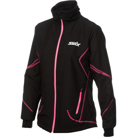 Fitness The Swix Women's Star Advanced Jacket helps prepare you for your upcoming cross country race. Its lightweight, breathable fabric has light weatherproofing that shields you from the early-morning elements while you await the signal of the air horn to start the race. - $77.97