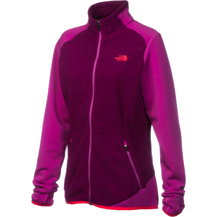 Fitness The funny thing about hiking in chilly weather is that you need a jacket that'll keep you warm, but you also need a jacket that's breathable for the fast-uphill or the steady-uphill sections. The North Face Women's Jacquard Split Full-Zip Fleece Jacket uses FlashDry technology and Jacquard fleece to promote climate control and prevent you from overheating on fast hikes. Plus, it's super-lightweight and packs easily into your backpack. - $71.47