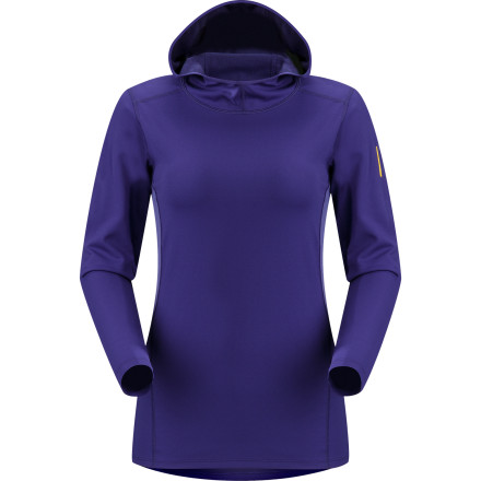 Fitness For women who both get chilly and work up a sweat in cold weather, there's the Women's Phase AR Hoodie. Arc'teryx engineered this long-sleeve top with a fabric that uses two different types of fibers: one fiber keeps you warm by insulating your core, and the other fiber keeps you dry by moving chilling moisture away from the surface of your skin. Make this hooded top the first layer you pull on before a run on a chilly morning or before another cold day on the trail during a backpacking trip. - $62.27
