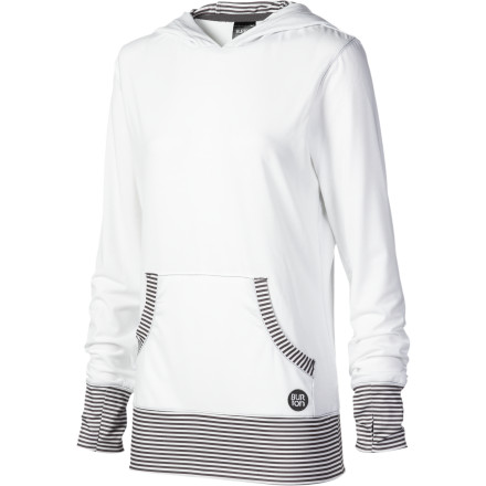 Fitness The Burton Women's Player Hooded Top rides as well as it looks with moisture-wicking, antimicrobial fabric and soft seams that won't cause chafing. Wear it to ride and to the party afterward'''it's ready to go. - $30.22