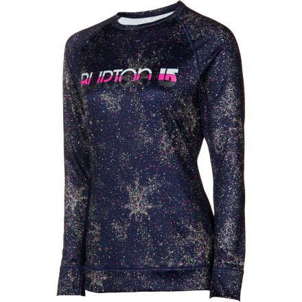 Fitness Burton gives you on very good reason to ban Killer Cotton from your riding wardrobe: the Womens Lightweight Crew. Just as cool as your favorite tee (thanks to the big Burton logo on the chest), this top also stays dry, won't stink, and moves with you as you take hot laps in the park. - $23.97