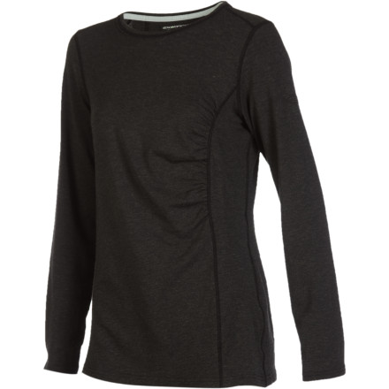Fitness Whether you're on a mission to hike the entire Great Wall of China or simply out for a short hike after work, the ExOfficio Women's Teanaway Long-Sleeve Crew Shirt is ready. Thanks to this top's cute side cinching and odor-inhibiting FreshGuard technology, you can confidently sport this baselayer both under other layers and on its own. - $50.97