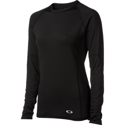 Fitness For all-winter comfort, it's tough to beat the Oakley Women's Moving Baselayer Top. The stretch synthetic material not only moves with you for unlimited range of motion and added durability, but it wicks moisture to keep you dry and comfortable. - $24.00