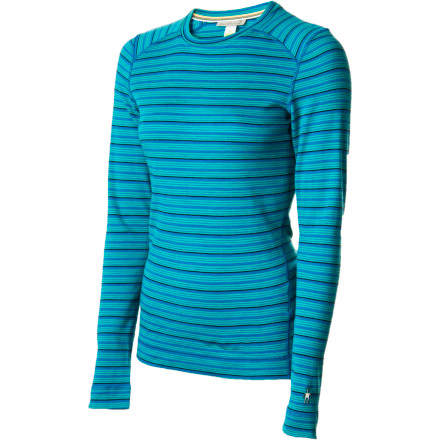 Fitness The SmartWool Women's Midweight Pattern Crew wouldn't just settle for being a cold-killing, moisture-wicking baselayer. It also had to go and pick up a subtle jacquard knit pattern, just to show up all the other tops at base camp. - $64.97