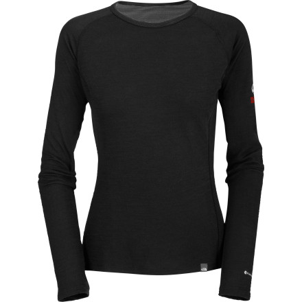 Fitness A baselayer that's anything but basic, The North Face Women's Blended Merino Crew combines high-tech efficiency with natural-fiber brilliance to keep you warm and sweat- and stink-free. Merino wool is the soft, stretchy, odor-resistant wonderfiber, and many a tech geek labored over the FlashDry that breathes and dries like magic. You could say it's the genius love-child of sheep and scientist. - $79.95