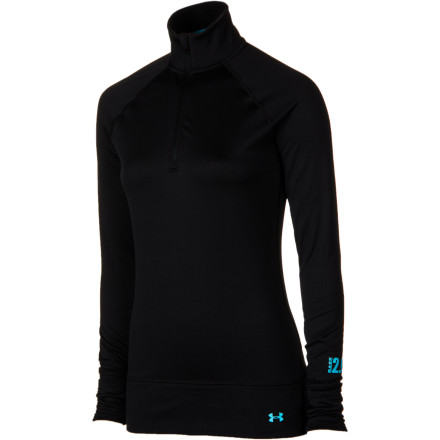 Fitness Open up the zipper on the midweight Under Armour Women's Base 2.0 Quarter-Zip Top for ventilation during the bootpack to the far reaches of the ridge, and then zip it up for the descent you've just earned through the prime terrain. Either way, the ColdGear fabric will be working to keep you dry and comfortable. - $31.49