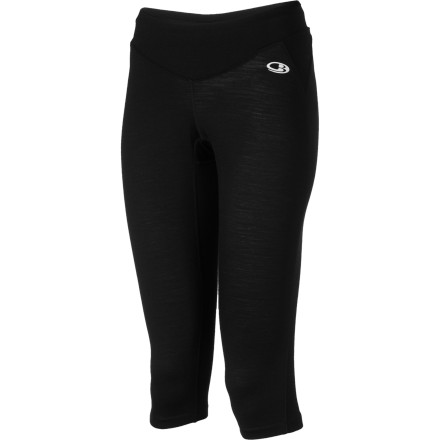 Fitness Once you take your first run wearing the Icebreaker Women's GT Run Rush 3/4 Tight you'll never want to go back to your frumpy sweats. Its lightweight, odor-resistant, and breathable merino wool fabric keeps you cool and comfortable while you jog up the trail. The Rush's shaped hidden elastic waistband comfortably keeps the tight in place, and a back stash pocket holds your car or house key. An Icebreaker logo and pip label help make you easy for motorists to see when you come off the trail at dusk. - $89.95