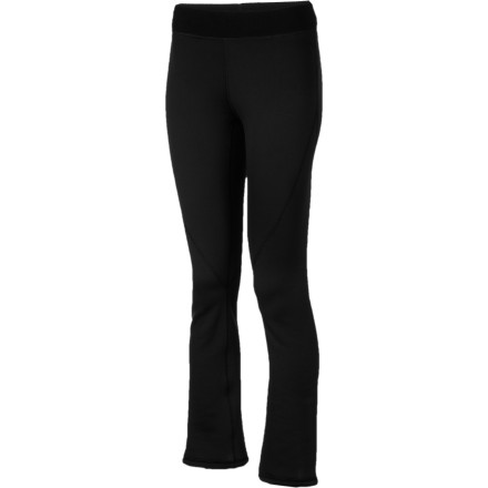 Ski You might want to warn anyone that lives with you that they should be ready to see a lot of the Marmot Women's Power Stretch Boot Cut Pant this winter. The temptation to spend a lot of time in this pant is overwhelming (especially on lazy Sundays) thanks to the Power Stretch fleece that ensures comfortable warmth and offer plenty of stretch. While this wicking, breathable fleece makes an excellent first layer under ski pants, Marmot added a slight flare at the hem and an attractive, wide-elastic and drawstring waist to turn the Power Stretch Bootleg Pant an excellent choice for yoga classes, cold-weather runs, or just running errands. - $53.97