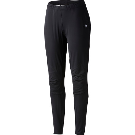 Fitness Mountain Hardwear designed the Women's Effusion Power Tight with MicroClimate Zoning so you don't have to layer up any more than necessary on your next winter run or cross-country ski. The tight's windproof, water-resistant panels that offer plenty of protection in front are complemented by stretchy, breathable fabric elsewhere so you can slice through the cold air in comfort and with efficiency. - $84.47