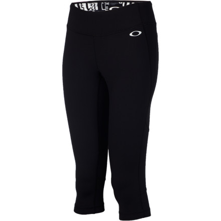 Fitness Slip into the Oakley Women's Runner Capri Tight, grab your tunes, lace up your kicks, and get ready to beat your best time in a 5K race. - $40.60