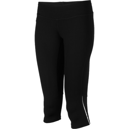 Fitness Don't let a brisk wind stop you from your morning run. Just pull on the wind-resistant Patagonia Women's Speedwork Capri Tight and hit the trail. Mesh panels behind each knee help to vent away sweaty moisture so you stay cool while you hammer out some mileage, and the stretch material feels smooth as silk. At just five ounces, you'll hardly notice that you're wearing these tights until it's time to peel off your gear for a hot shower back at the house. - $48.30