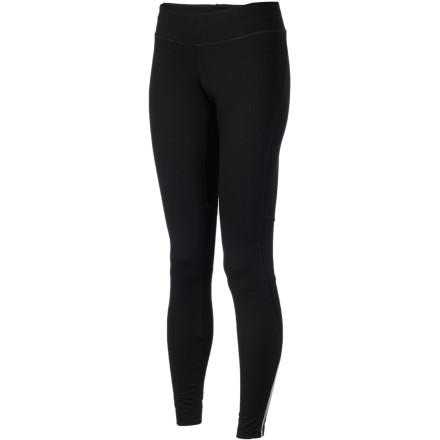 Fitness You can hear the wind whipping outside before you even reach for your shoes. Pull on the Patagonia Women's Speedwork Tight and make short work of a long run in chilly weather. Mesh ventilation panels behind each knee help vent excess heat and let sweaty moisture escape, and a touch of spandex in the body material gives these tights a silky-smooth feel. Patagonia finished off these little beauties with an elastic waist and elastic cuffs that keep these tights comfortably in place. - $51.35