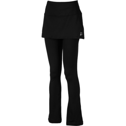 Fitness The Skirt Sports Tough Girl Skirt is a legging system with a built-in skirt for coverage and a stylish, feminine look. Moisture-managing fabric dries quickly when you go from the gym to the grocery store. The tights are soft and warm and feature a fashionable boot-cut design that will pair well with your favorite shoes. - $62.97