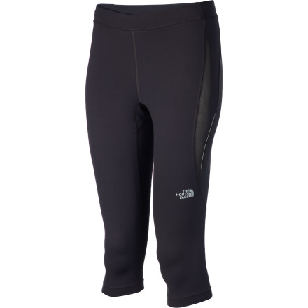 Fitness The early morning hours are your favorite time to run, so gulp down some juice, pull on The North Face Women's GTD Capri Tight, and head out the door before the world starts to stir. This supportive, compressive knicker was made for long runs, whether you wear it on its own or slide it under some windpants on particularly chilly mornings. - $38.97