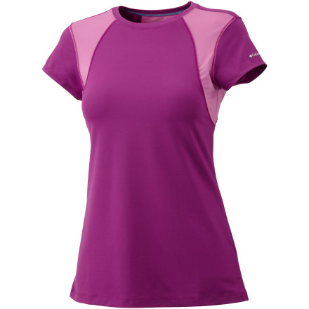 Fitness Face it, your body is probably full of a few glasses of wine, a week's worth of coffee, and all of those creepy chemicals that they use to make sugar substitutes. Sweat the bad stuff out in the Columbia Women's Anytime Active Short-Sleeve Shirt. Whether you're working through an overheated yoga class or running your local trails, this top moves all that sweat away from your body to help keep you cool. - $17.48