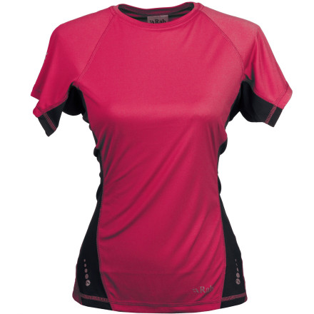 Fitness Reach for your cool, lightweight Rab Women's Aeon Tech T-Shirt when your mountain pursuits get hot and heavy. Silkweight fabric quickly wicks moisture away from your skin while you climb or pack. Thanks to a performance fit and flatlock seams, you'll hardly notice this little slice of gear paradise until you're stripping it off to jump in a chilly spring-fed lake at the summit. - $31.95