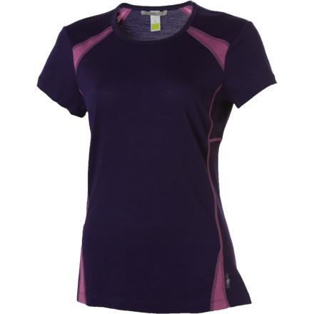Fitness You'll appreciate the SmartWool Women's Cortina Tech T-Shirt's versatility all summer long whether you're a hiker, a runner, a biker, or all three. Ultra-breathable merino wool wicks moisture away to keep you dry and comfortable while keeping you from smelling like a locker room. The drop tail boost coverage, and the center pocket takes care of your music, snacks, phone, or keys. - $38.47