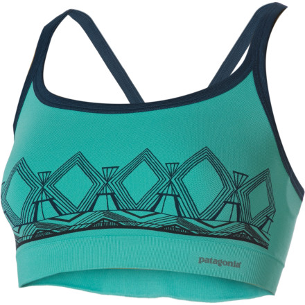 Fitness The Patagonia Active Mesh Bra gives you seamless support, and it wicks moisture so you stay comfortable while you move. Recycled polyester causes less stress on the environment so you can support the earth while the Active Mesh Bra supports you. - $24.50