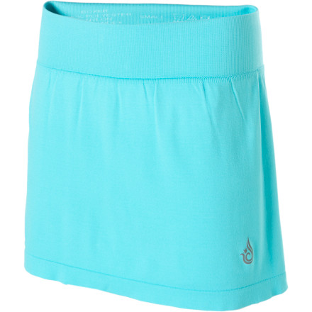 Fitness Isis' Skyline Skort has the playful, flirty feel of a miniskirt, but its interior five-inch-inseam boyshort means you can wear this skirt anywhere from the running trails to the local park without flashing too much skin. Made of wicking, stretchy lightweight material, the Skyline is a true performance piece that keeps you dry and cool. And unlike other skirts, this one really lets you play. - $24.48