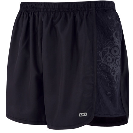 Fitness The Louis Garneau Women's Flow Running Short keeps things simple. A three-inch inseam, some mesh, and an inner pocket. What else do you need' Maybe some reflective logos to make sure that you're visible in the headlights of vehicles at dusk' Oh, ok. Breezy inner shorts are sewn inside the Flow shorts and help to keep you cool on particularly hot runs. - $7.99