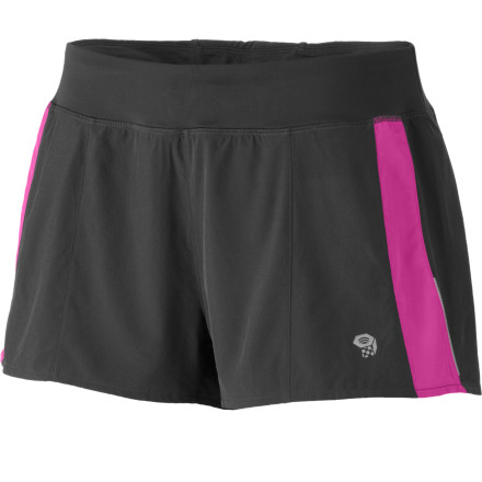 Fitness It's easy to quicken the pace when you sport the ultralight, super-stretchy, and moisture-wicking Mountain Hardwear Women's Ultrapacer Short. - $24.98