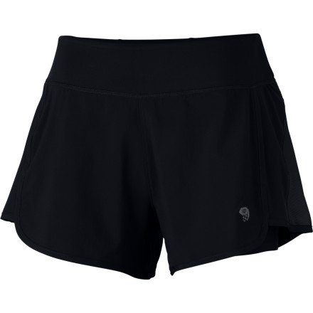 Fitness The Mountain Hardwear Women's Pacer 2-In-1 Short has the classic short-runner-shorts look with a built-in tight short for moisture-wicking thigh coverage. - $54.95