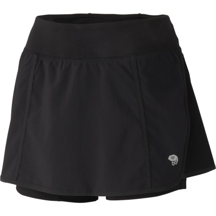 Fitness From the trail to the airport, the Mountain Hardwear Womens Pacer Skort lets you move fast and look good doing it. Slip into this skort when you want coverage, performance, and skirt style. - $27.48