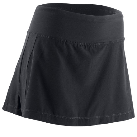 Fitness Take a style of a sassy skirt and mix it with the coverage and comfort of a workout short and you get a bottom that will keep you covered while running or cycling and that actually looks good too. The Sugoi Moxie Skirt flirts with fun and keeps you covered where it counts. - $14.99